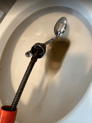 Clogged toilet